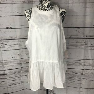 NWT Free People Breathless Moments Tunic white S